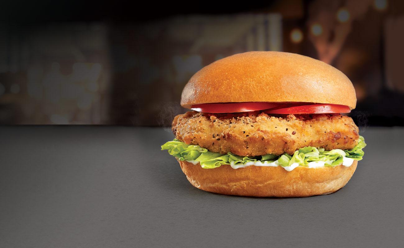 Abrakebabra Fried Chicken Burger