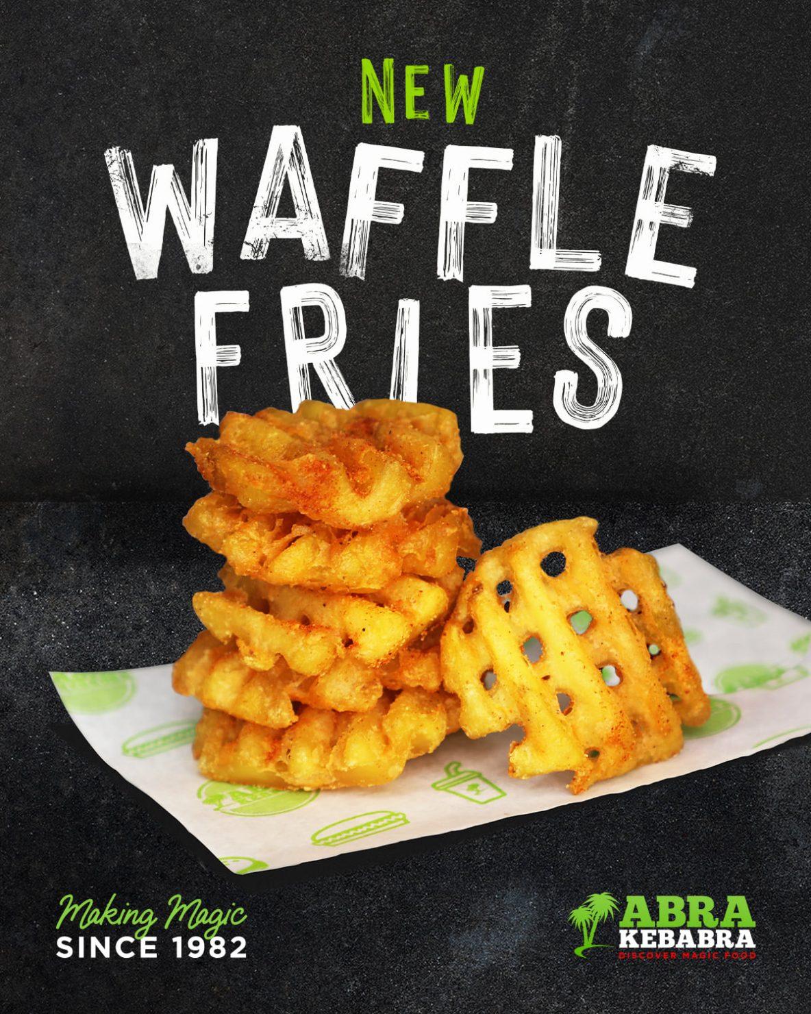 Waffle Fries at Abrakebabra